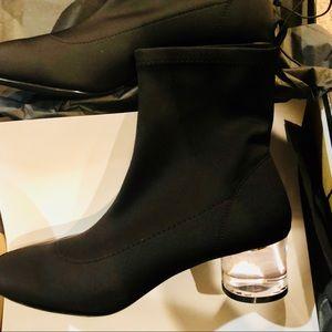 Women's F21 Lucite Heel Booties
